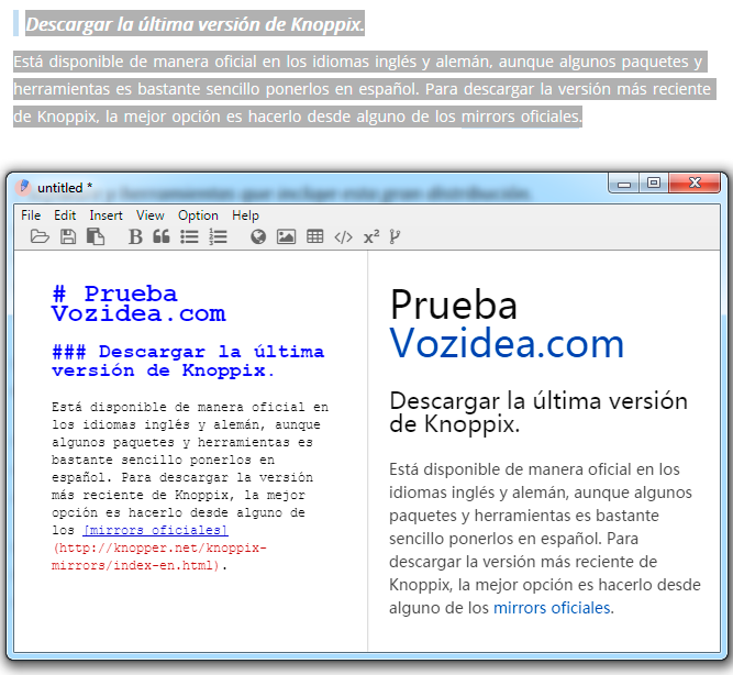 guardar html como markdown