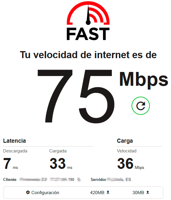 test velocidad fast