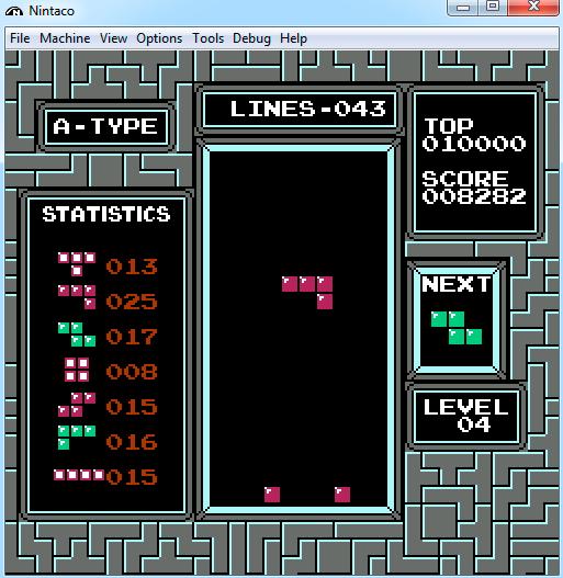 tetris nintaco emulador